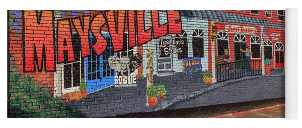 Yoga Mat featuring the photograph Maysville Mural by Doug Camara