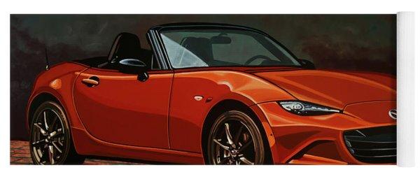 Mazda Mx-5 Miata 2015 Painting Yoga Mat