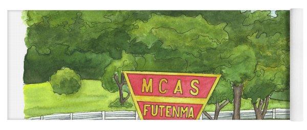 Mcas Futenma Welcome Sign Yoga Mat