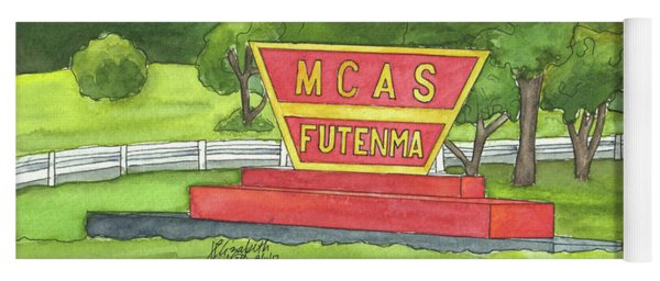 Mcas Futenma Welcome Sign Yoga Mat