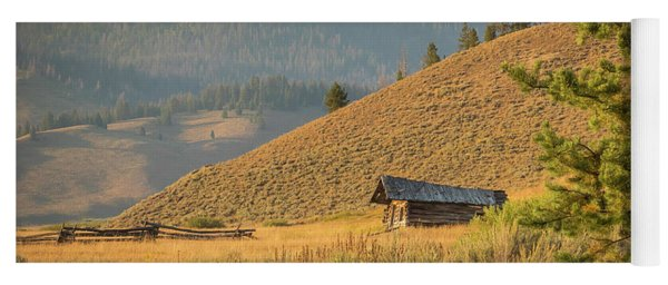 Yoga Mat featuring the photograph Meadow Cabin by Mark Mille