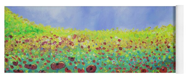 Meadow Of Poppies  Yoga Mat