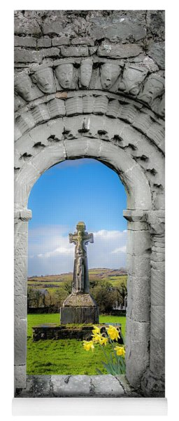 Medieval Arch And High Cross, County Clare, Ireland Yoga Mat