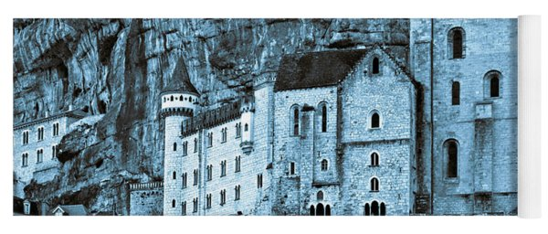 Medieval Castle In The Pilgrimage Town Of Rocamadour Yoga Mat
