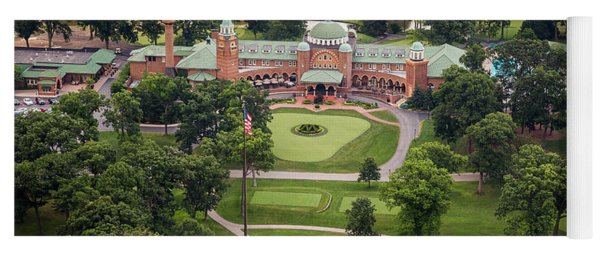 Yoga Mat featuring the photograph Medinah Country Club by Adam Romanowicz