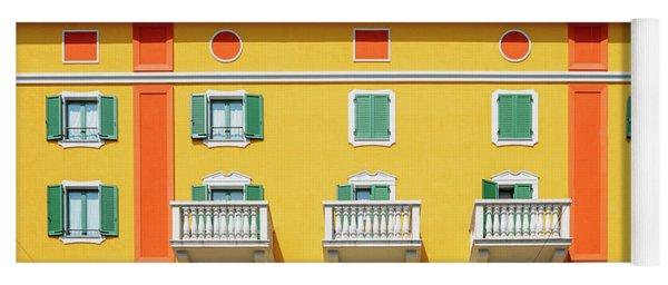 Mediterranean Colours On Building Facade Yoga Mat