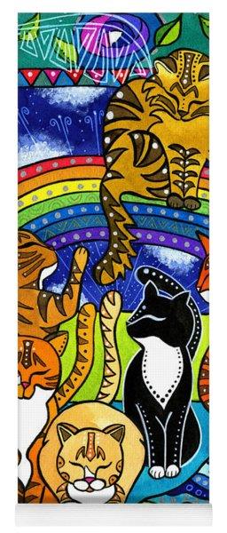 Meet Me At The Rainbow Bridge - Cat Painting Yoga Mat