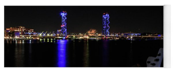 Memorial Bridge At Night Yoga Mat
