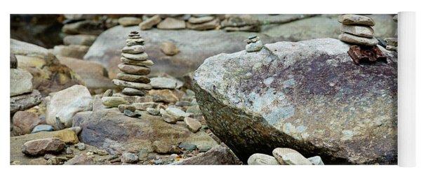 Memorial Stacked Stones Yoga Mat