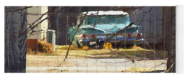 Memories Of Old Blue, A Car In Shantytown.  Yoga Mat