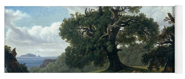 Memory Of A Wooded Island In The Baltic Sea. Oak Trees By The Sea  Yoga Mat