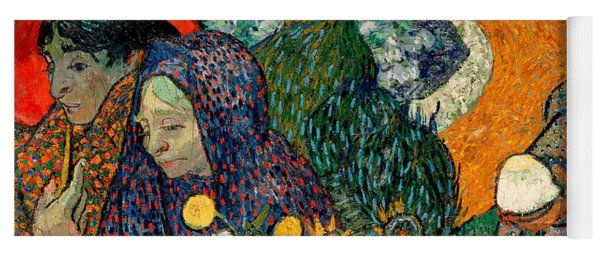 Yoga Mat featuring the painting Memory Of The Garden At Etten by Van Gogh