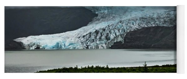 Yoga Mat featuring the photograph Mendenhall Glacier by Ed Clark