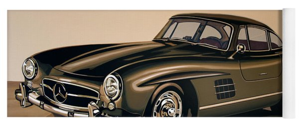 Mercedes Benz 300 Sl 1954 Painting Yoga Mat