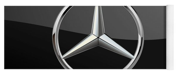 Mercedes-benz - 3d Badge On Black Yoga Mat