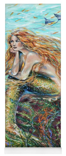 Mermaid Contemplating Yoga Mat