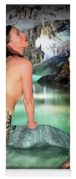 Mermaid In A Cave Yoga Mat