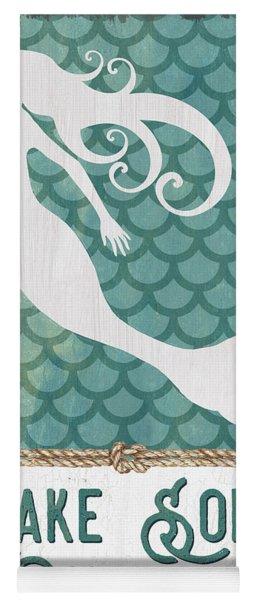 Mermaid Waves 1 Yoga Mat