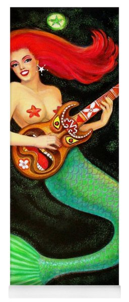 Mermaids Rock Tiki Guitar Yoga Mat