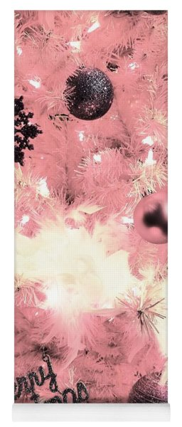 Merry Christmas In Pink Yoga Mat