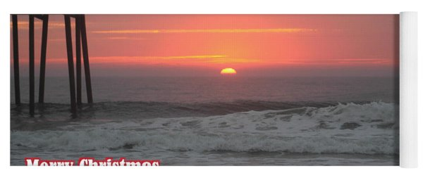 Merry Christmas Sunrise  Yoga Mat