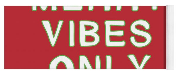 Merry Vibes Only Red- Art By Linda Woods Yoga Mat