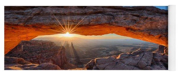 View Through The Mesa Arch At  Sunrise Yoga Mat
