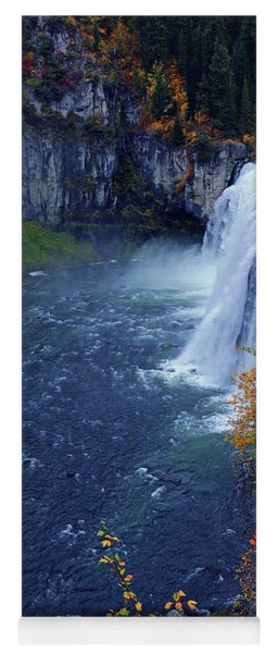 Mesa Falls In The Fall Yoga Mat
