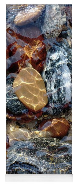Mesmerized By The Creek Stones  Yoga Mat