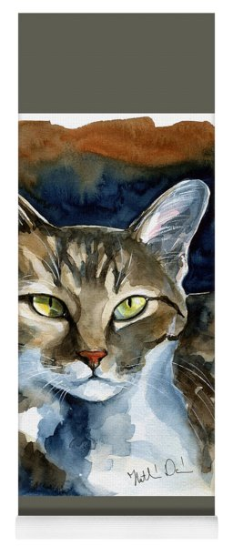 Mesmerizing Eyes - Tabby Cat Painting Yoga Mat