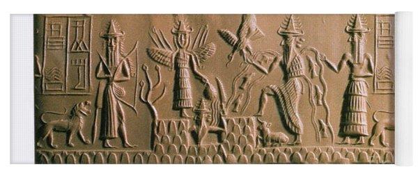 Mesopotamian Gods Yoga Mat