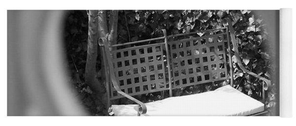 Metal Bench In Sedona Yoga Mat