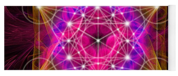 Metatron's Cube With Flower Of Life Yoga Mat
