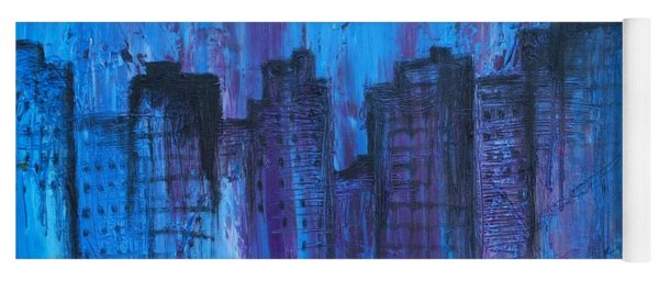 Metropolis In Blue Yoga Mat