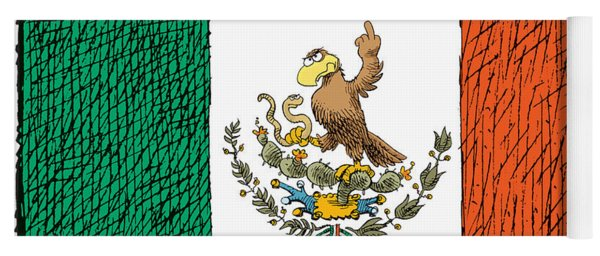 Mexico Flips Bird Yoga Mat