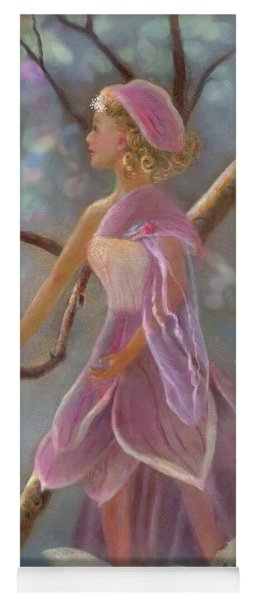 Yoga Mat featuring the painting Mia Magnolia Fairy by Nancy Lee Moran