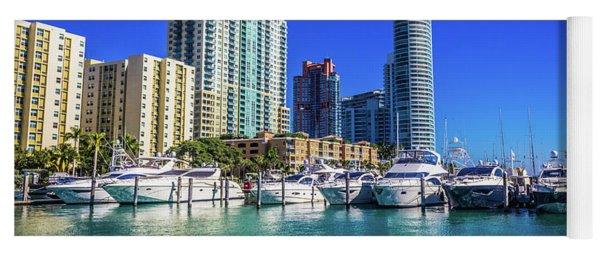 Miami Beach Marina 4571 Yoga Mat