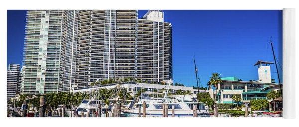 Miami Beach Marina 4573 Yoga Mat