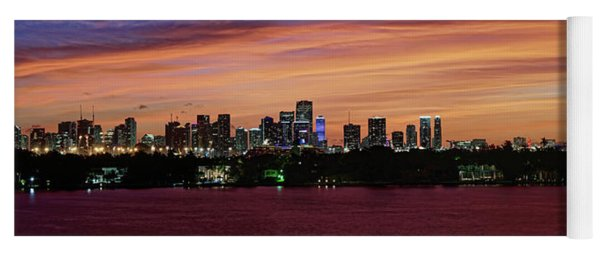 Miami Sunset Panorama Yoga Mat