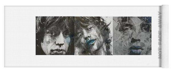 Mick Jagger Triptych Yoga Mat