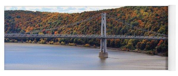 Mid Hudson Bridge In Autumn Yoga Mat