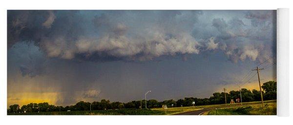 Mid July Nebraska Thunderstorms 013 Yoga Mat
