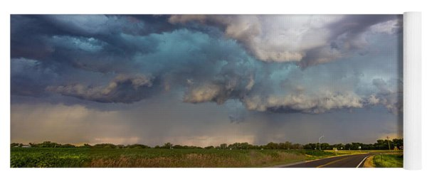 Mid July Nebraska Thunderstorms 015 Yoga Mat