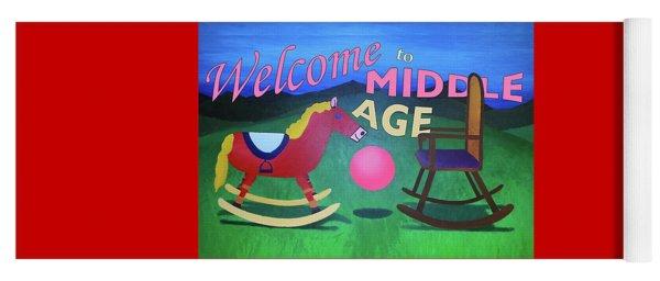 Middle Age Birthday Card Yoga Mat