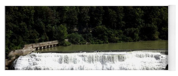 Middle Falls In Rochester New York Yoga Mat