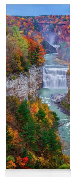 Middle Falls Of Letchworth State Park Yoga Mat