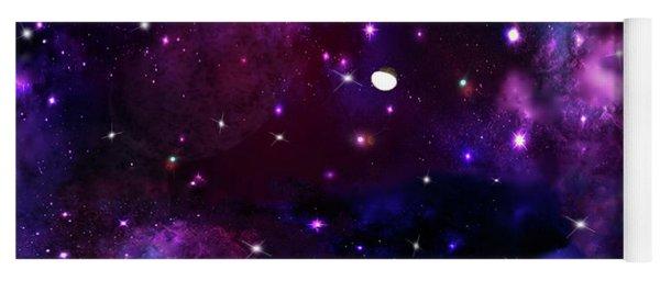 Yoga Mat featuring the photograph Midnight Blue Purple Galaxy by Rockin Docks Deluxephotos