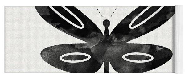 Midnight Butterfly 1- Art By Linda Woods Yoga Mat