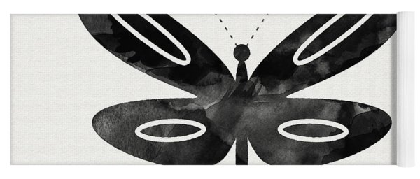 Midnight Butterfly 1- Art By Linda Woods Yoga Mat