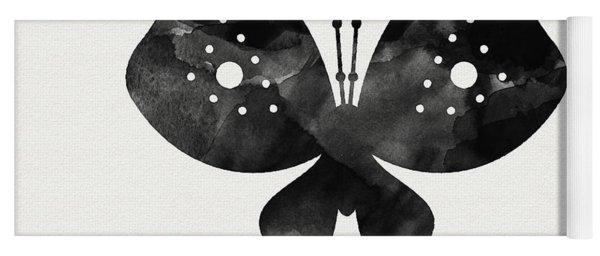 Midnight Butterfly 2- Art By Linda Woods Yoga Mat